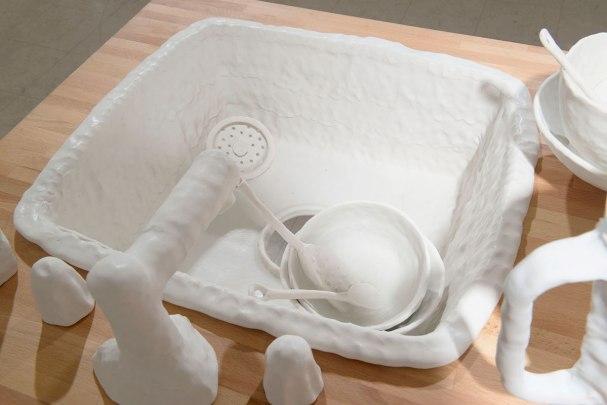 2014, porcelain, wood, paint