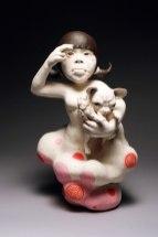 """2012, Porcelain, Under glaze, Glaze, Resin, 12""""x12""""x23"""""""