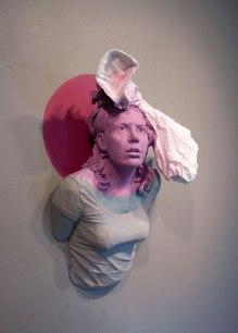 """2014, earthenware, colored slip, acrylic. 22""""x16""""x9"""""""