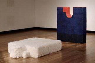 "3/18, Each Piece Approx.: 3' x '3 x 9"", Ceramic, Crocheted Yarn, Latex Paint, Steel, Faux Fur"