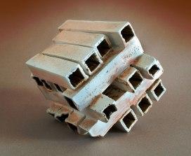 H19xW22xD42cm; 2008; Porcelain, celadon glaze, soda wood firing; (in Guldagergaard)