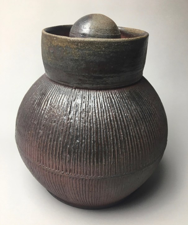 "H 11"" X L 8.5"" W 8.5"" Wood fired Stoneware"