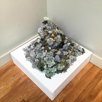 Glazed porcelain, stoneware, & gold luster, Site specific, third installation, 2 x 3 x 3 feet, 2016