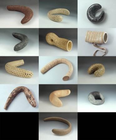 objects, chamotte mass, glaze