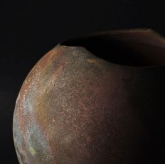 Copper matt Raku form