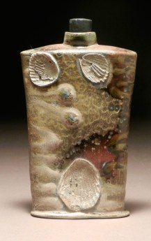 """wheel thrown and altered, wood fired, natural ash glaze, 6""""x4""""x1.5"""""""