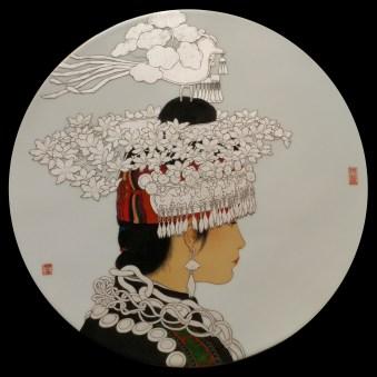 """Ming Zhan, """"Guizhou Miao Portrait"""""""