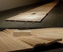 Wood, Press molded Porcelain, 1.5 meters wide x 28 meters long
