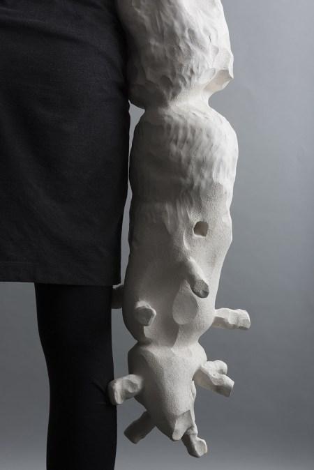 2015, digital print on archival paper, earthenware clay, artist's body, words.