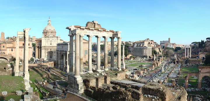 the symbolic center of ancient Rome is just blocks away from our city center studio