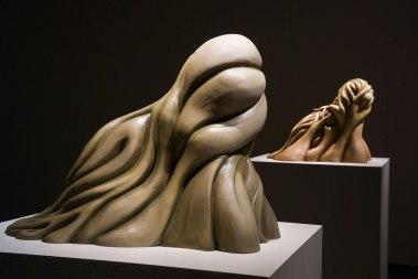 Guardians (left), 20 x 14 x 15 inches, Porcelain, Oil