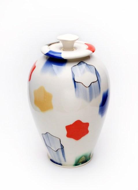 "Porcelain, Underglaze, Glaze, Lustre, 2018, 14"" x 8""x8"""
