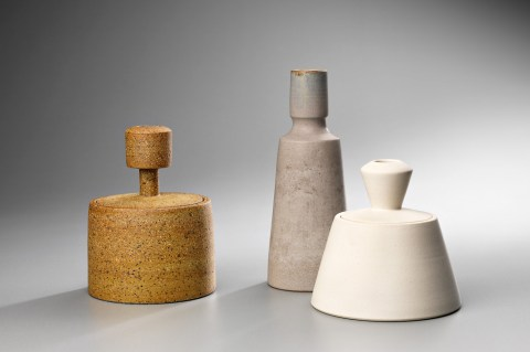 """Ulrica Trulsson, """"Canisters and bottle"""""""