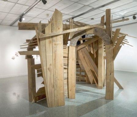2017, Aged Pine Wood, Hardware, 11.5' x 15' x 15'