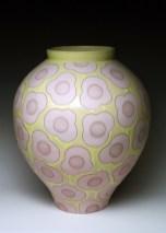 "porcelain& glaze with laser transfers, cone 10, 20"" x 16"""
