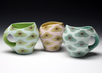 """porcelain & glaze with laser transfers, cone 10, 4"""" x 5"""" x 4"""""""