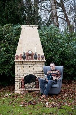 "2013, 8'x3'8""x2', Terracotta and dimensional lumber"