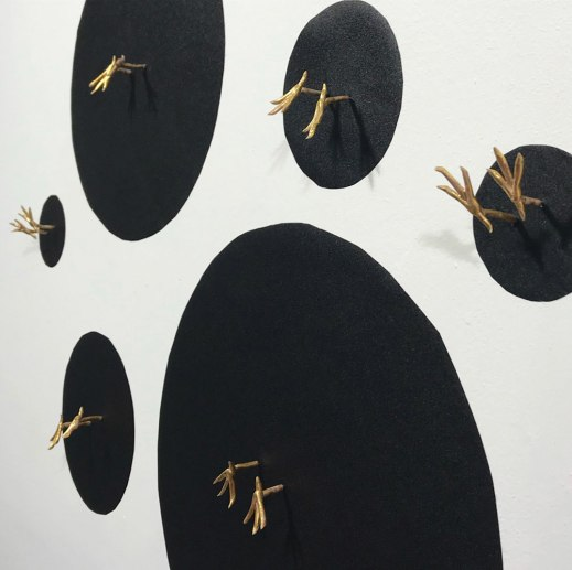 "Aimée Papazian, ""Stuck"" (wall mounted)"