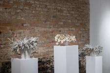 porcelain, terra sigillata, approx. 30 x 50 x 50 cm each, 2016
