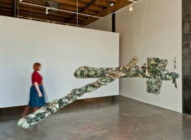 "Nichrome, porcelain, oxides, glaze, steel, 36"" x 96"" x 191"", Photo: Molly Addington"