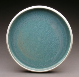 "Plate. Porcelain. 11.5"" in diameter"