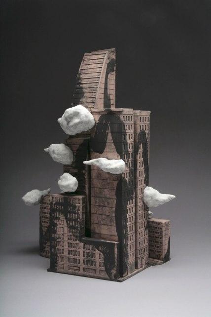 """Stoneware,underglaze, 21""""x14.5""""x10"""", 2013"""