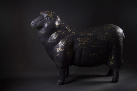 "Stoneware,Gold marker, 54""x23""x42"", 2015"
