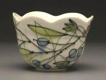 """Berry Bowl, 6"""" x 7"""" x 7"""", Porcelain, Slip, Underglaze, Glaze, 2008"""