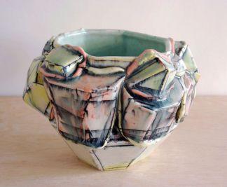 2013, Porcelain, Underglaze, Mason Stain, Cone 6, 5x5x5