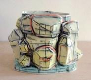 2013, Porcelain, Underglaze, Mason Stain, Cone 6, 5x6x3