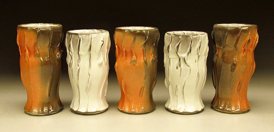 Porcelain, Soda fired with flashing slip