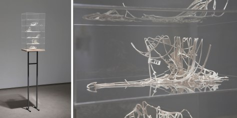 Harder Hall, Laser Cut Custom fabricated Porcelain Tape-Cast, Plexi-glass, MDF, Steel, dimensions varied, 2013