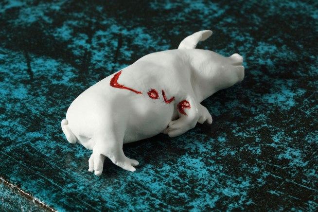 Love, fired clay, glaze, 50x60x55, 2013