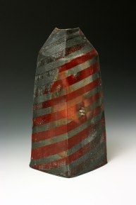 "Woodfired Stoneware, 6"" x 3.5"" x 10"", 2015"