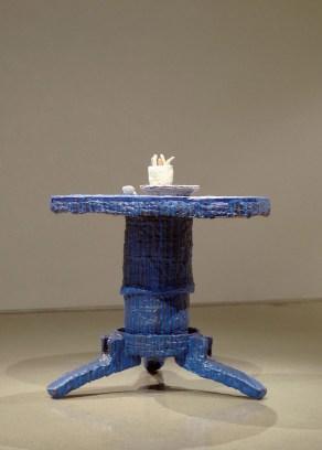 "Chris Drobnock, ""ave maria (blue table.)"""
