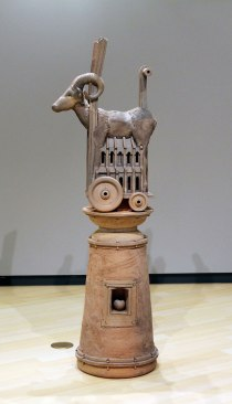 """2006, Unglazed hand-built ceramics, fired to cone 1 in reduction, 72""""x 24""""x 21"""""""