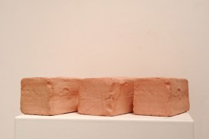 2015, Slip Cast Ceramic, Stain, Wax, 11 x 36