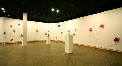 Marshall University, 2013, ceramic, vinyl, textile, thread, steel