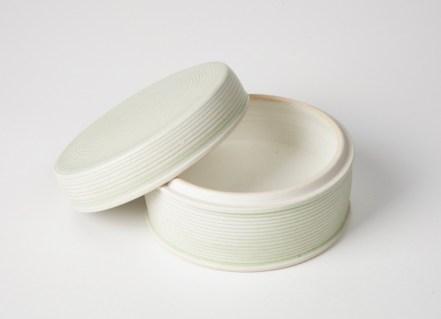 "cone 9 oxidation porcelain, 4"" W x 2.75"" H"