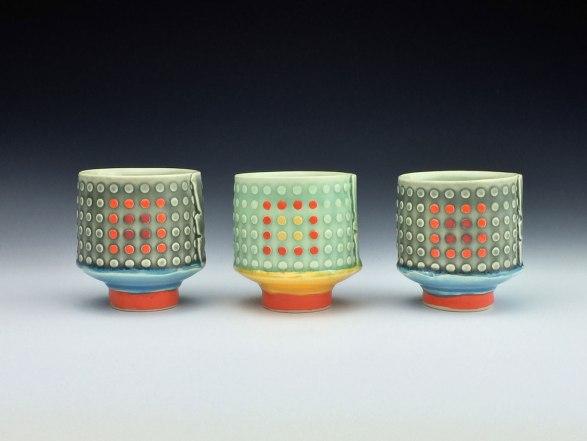 white stoneware, cone 6 oxidation,3x2.5x2.5