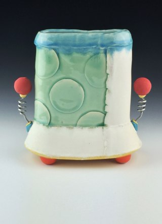 white stoneware, cone 6 oxidation, 9x8x4
