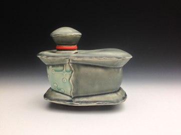 white stoneware, cone 6 oxidation, 7x9x5