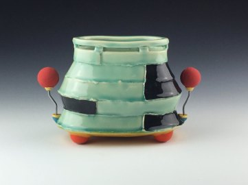 white stoneware, cone 6 oxidation, 7x8x4