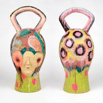 """2017, ceramic, glaze, 36"""" x 17"""" x 17"""""""