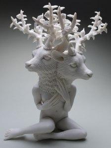"12"" x 9"" x 6"", Hand built porcelain, 2017"