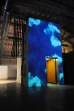 Margins: smokestacks, mapped video projection on elevator shaft, Urban Institute of Contemporary Art, Grand Rapids