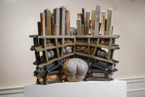 "2016, Wood Fired Ceramic, 48"" x 36"" x 28"""