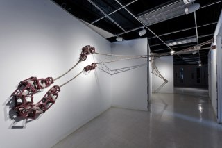 Ceramic, unfired clay, wire and paint, 9' x 24' x 8', 2012
