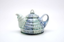 porcelain, glaze, inlaid black slip, cone 8, electric fired, 2015