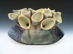 Porcelain, Wheel thrown and hand built, Cone 6 Electric